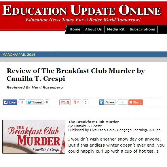 Review of Camilla Crespi Novel on Education Update